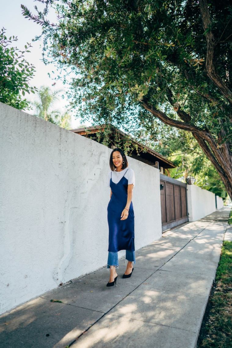 Aimee_song_of_style_cami_nyc_blue_slip_dress_mother_denim_jeans_white_t-shirt